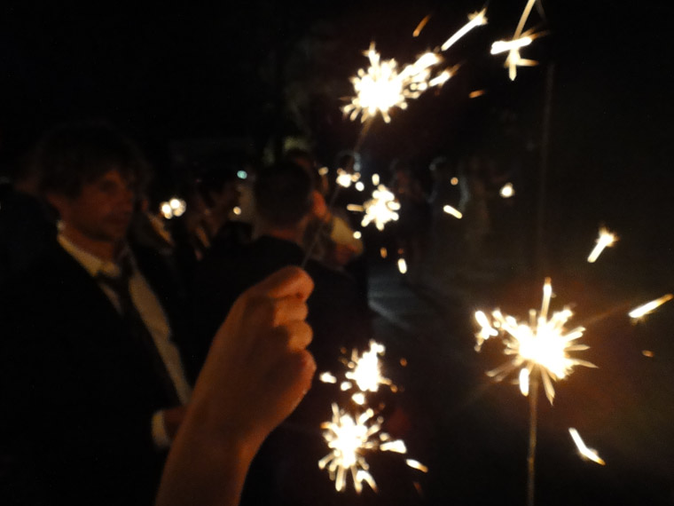 Sparklers in St Augustine Florida