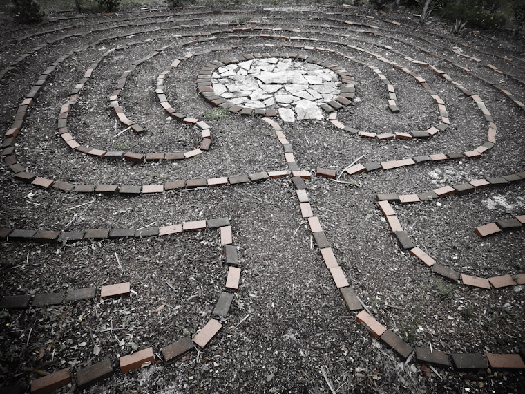 Picture of local labyrinth in Saint Augustine Florida