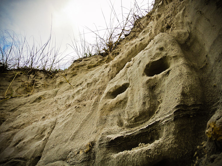 Eroding face photo in Saint Augustine Florida