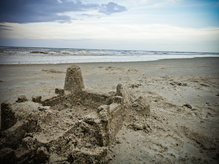 Castles Made of Sand in St Augustine Beach Florida