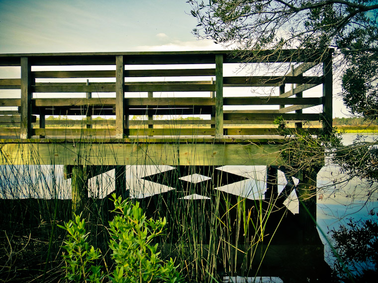 Photo of fishing dock symmetry in Saint Augustine Florida