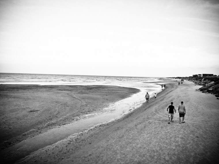 Picture of long walks on the beach in St Augustine Florida