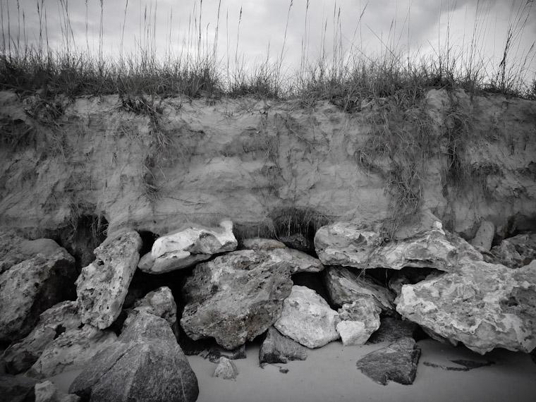 Eroding Dune Texture in Saint Augustine Florida