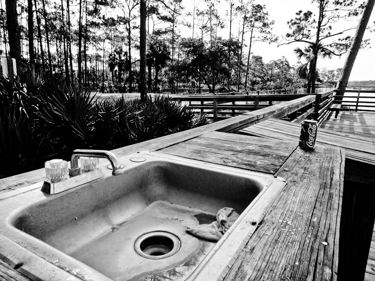 Photo of fish cleaning sink in St Johns County Florida