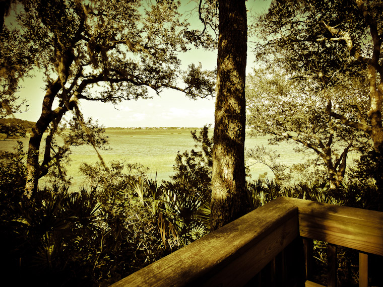Moultrie Creek Deck View in St Augustine Florida