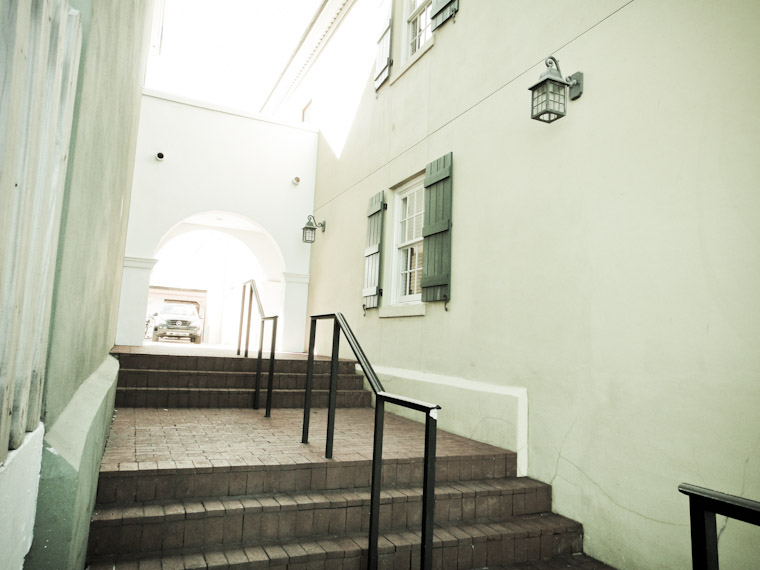 Photo of the Bayfront Hilton Alley Stairway in Saint Augustine Florida