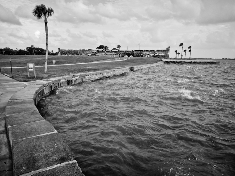 Photo of Castillo Seawall Curve in St Augustine Florida