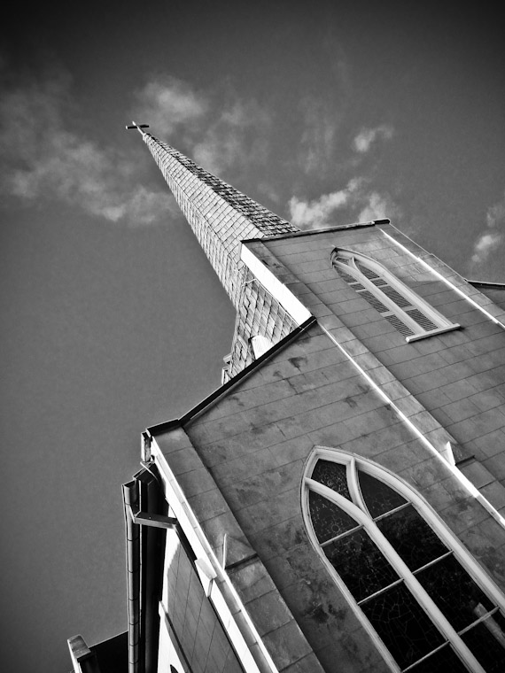 Trinity Episcopal Church Steeple in Saint Augustine Florida