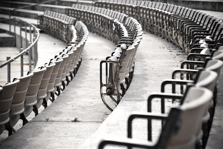 old amphitheatre seats in Saint Augustine Florida