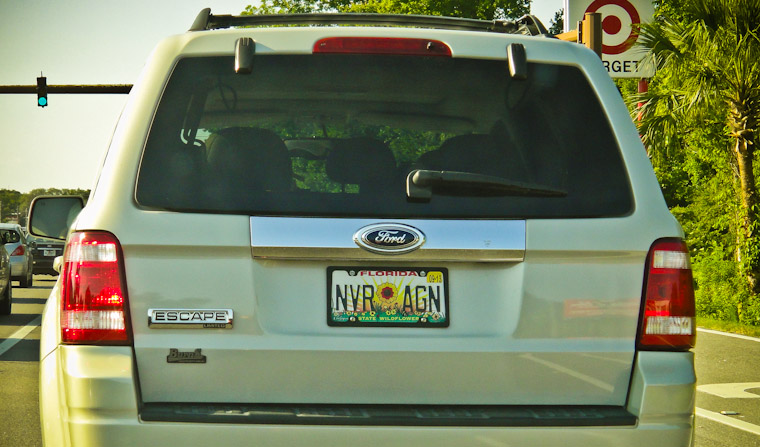 Creative license plate in Saint Augustine Florida