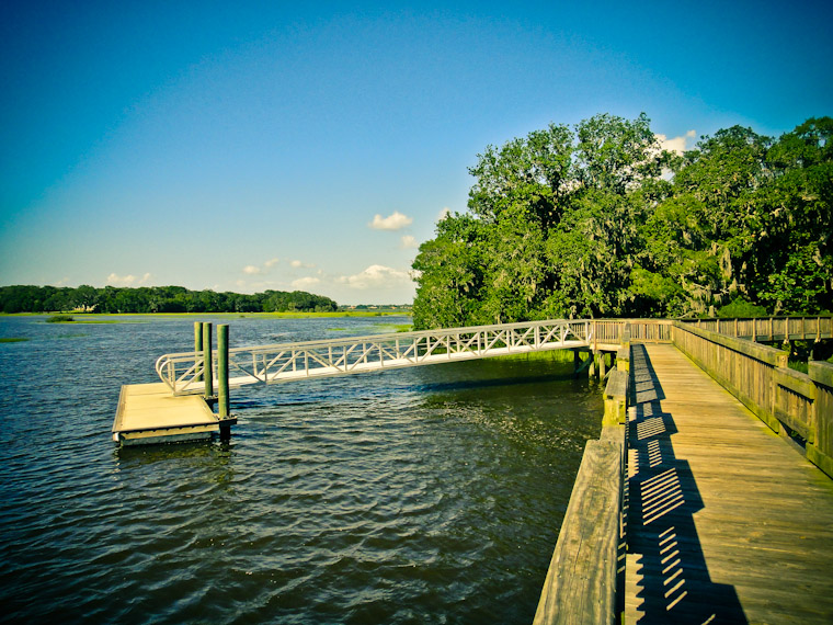 Vail point boardwalk and dock in St Augustine Florida
