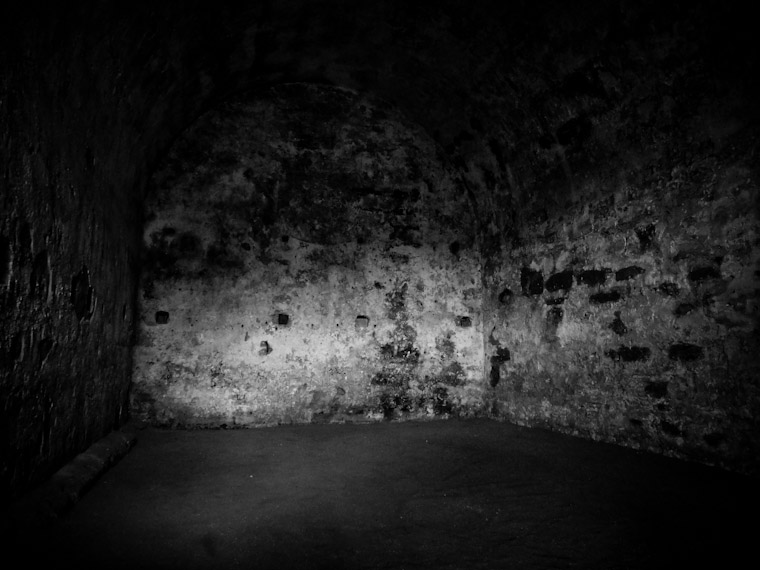 Haunted corners at fort in St Augustine Florida