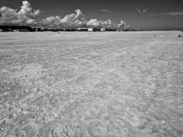 Photo of beach renourishment in St Augustine Florida