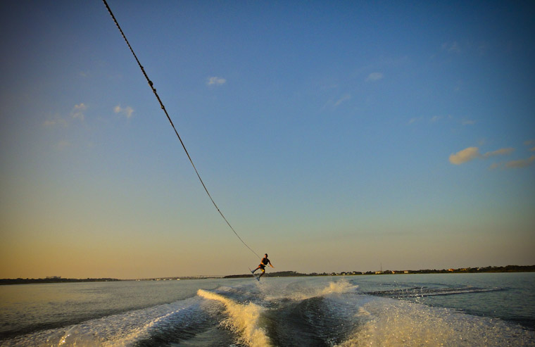 Photo of evening wakeboard action in saint augustine Florida