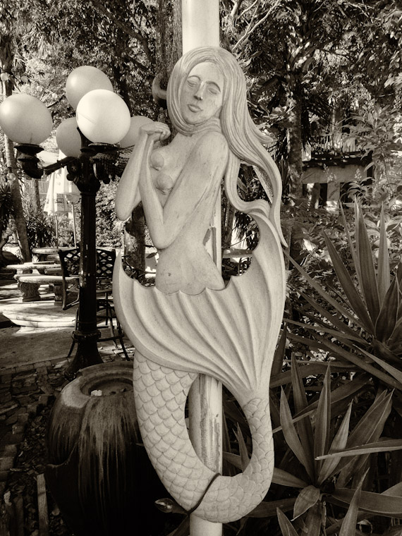 Mermaid memory in Saint Augustine Florida