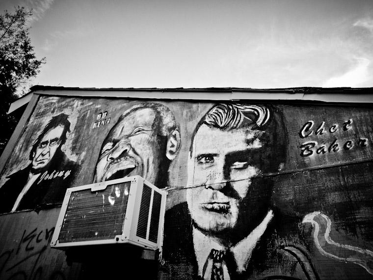 Picture of Johnny Cash, BB King & Chet Baker Graffiti