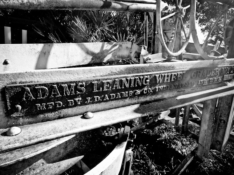 Adams Leaning Wheel Grader No. 2 in St Johns County