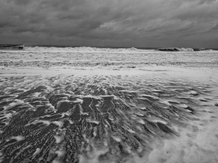 Picture of hurricane sandy sea foam in saint Augustine florida