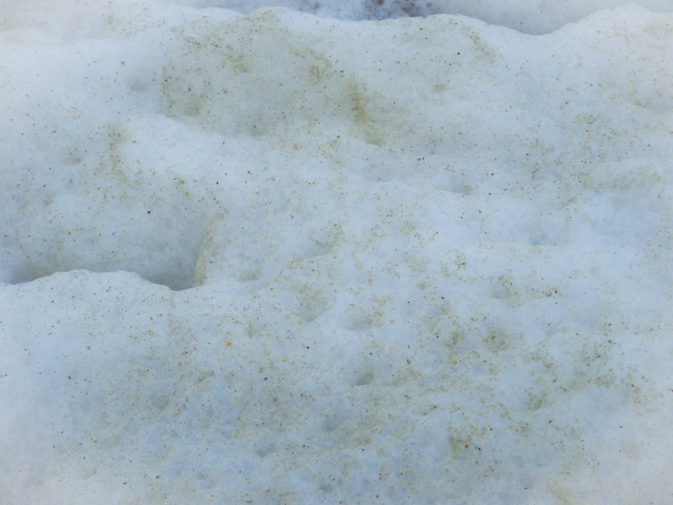 Snow or sea foam in St Augustine Beach