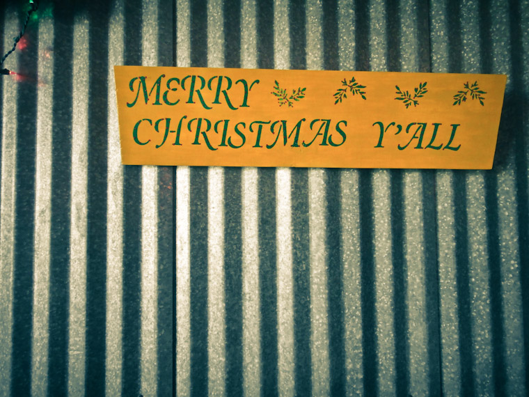 Merry Christmas Y'all sign in Saint Augustine Florida