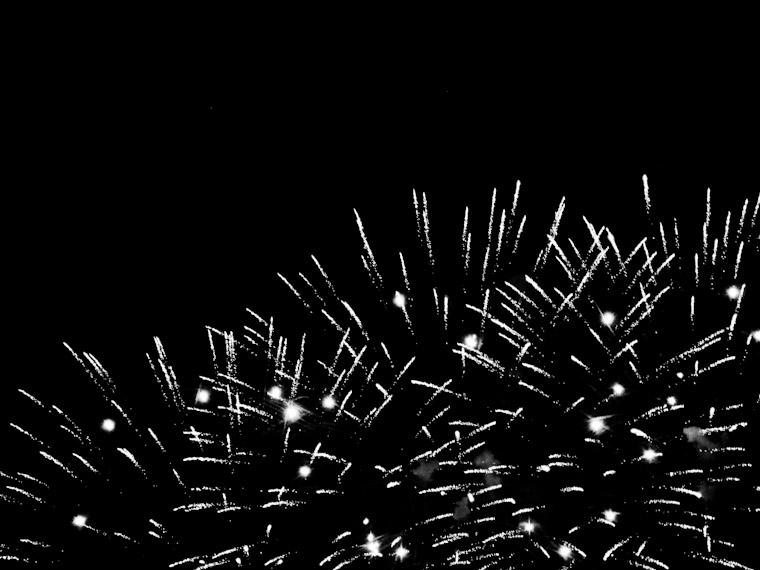 Fireworks black and white image