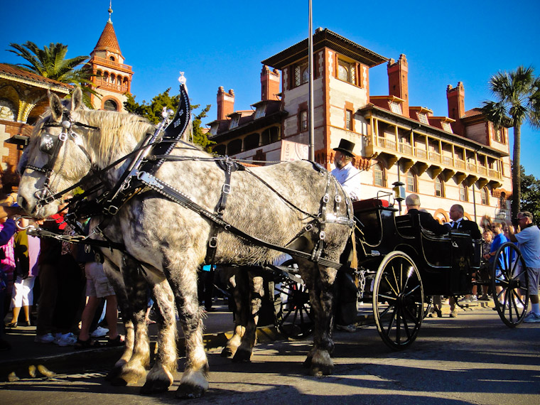 Henry Flagler Arrives by Horse Carriage for 125th Opening