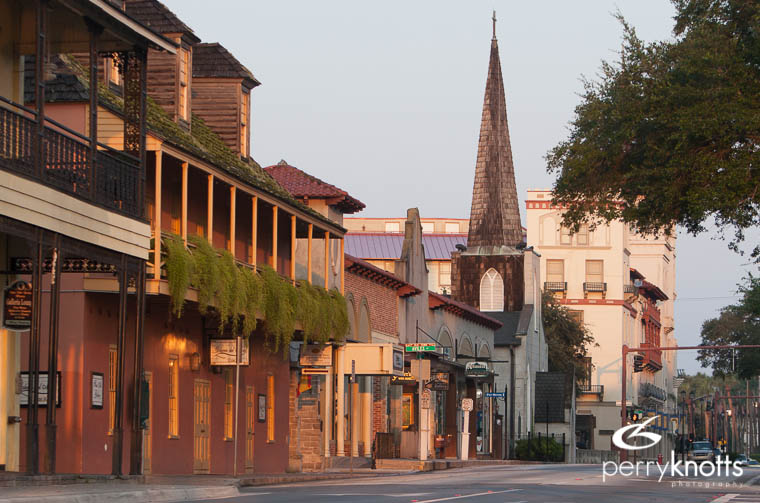 Morning on King Street in St. Augustine