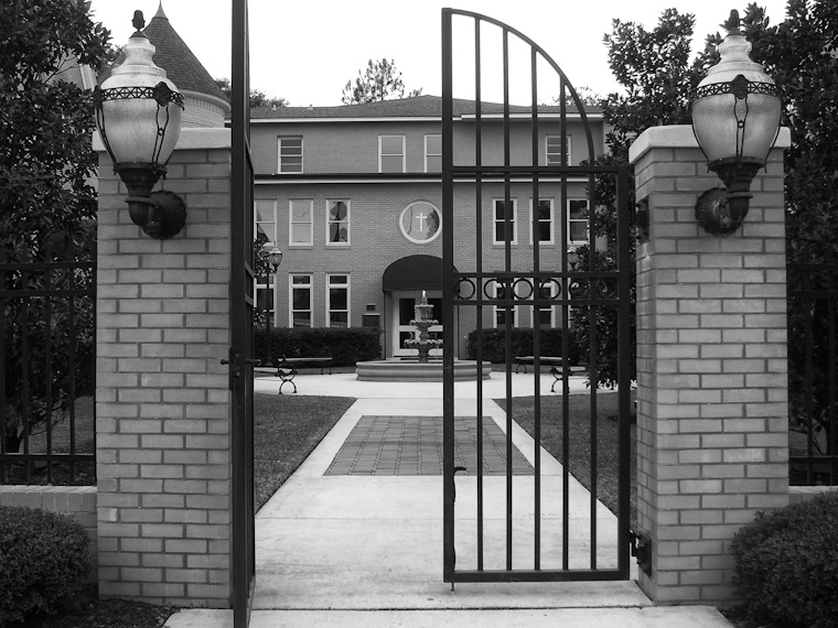 Picture of gate at Ancient City Baptist Church