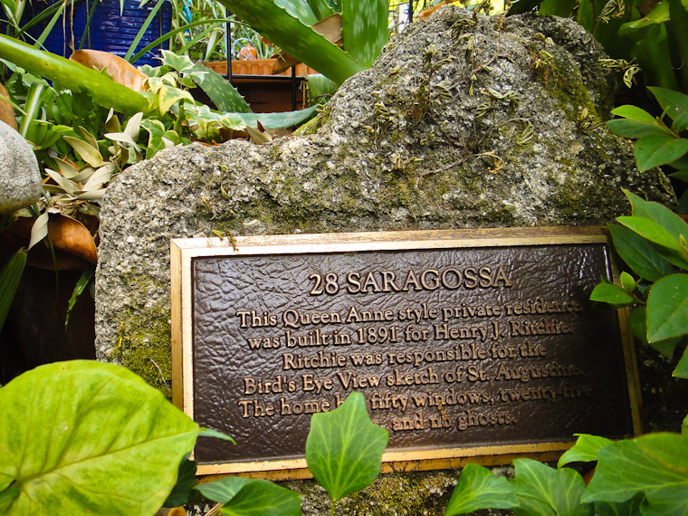 No ghosts plaque at Henry J Ritchie's Queen Anne home