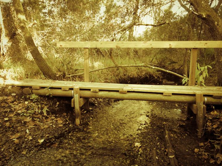 Bridge over creek in Moses Creek State Park