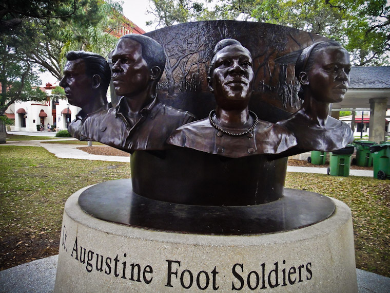 St Augustine Foot Soldiers Monument Statue