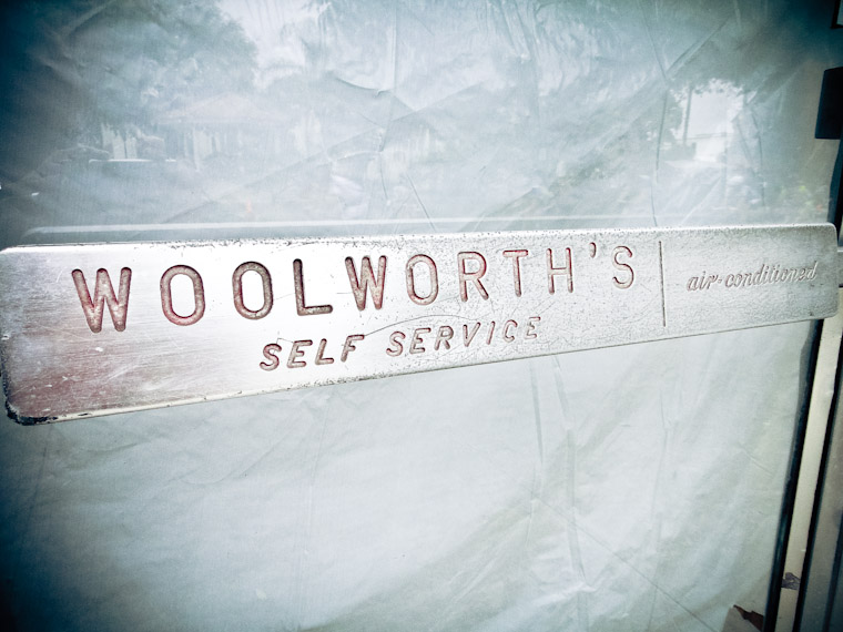 Picture of Woolworth's self service door handle