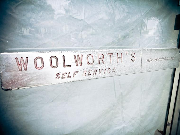 Picture of Woolworth's self service door handle
