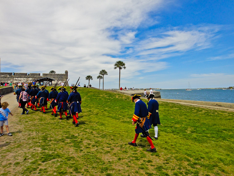 Soldiers returning to Castillo de san Marcos