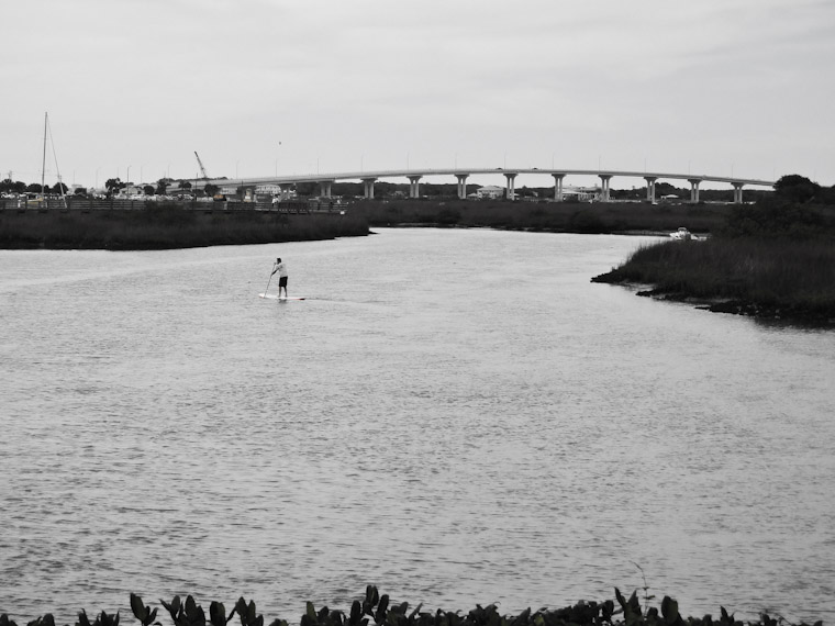 Stand up paddle boarding in the intracoastal