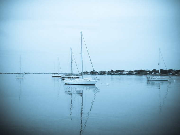 Cyanotype sailboats