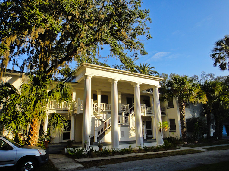 Kirkside Apartments with Henry Flagler's Mansion Columns