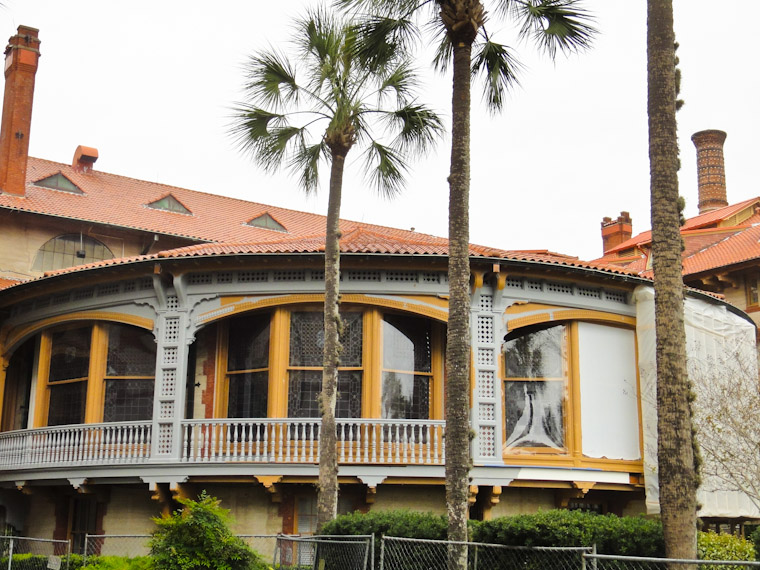Flagler College Dining Hall Exterior Restoration work and painting