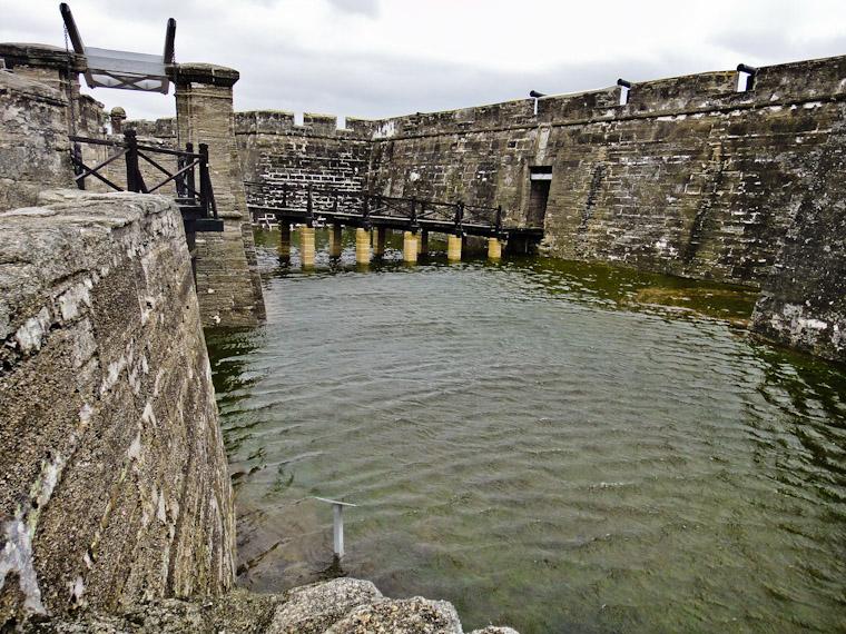 Castillo de San Marcos Flooded Moat