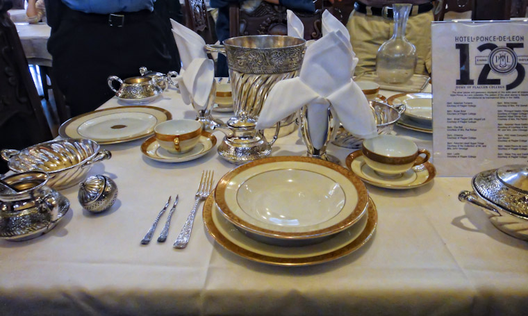 Silverware place setting at Flagler College Ponce de Leon