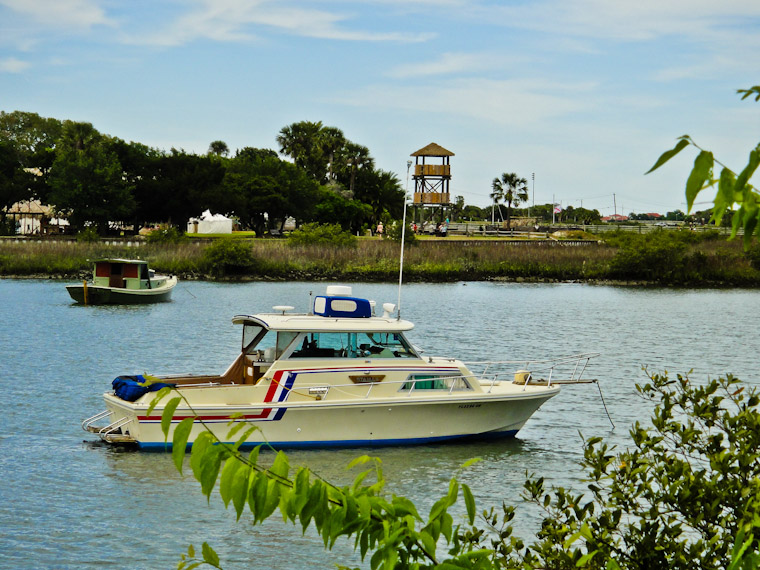 Boats by fountain of youth in Saint Augustine Florida
