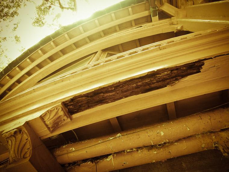 Hotel Ponce de Leon Flagler College Dining hall damage