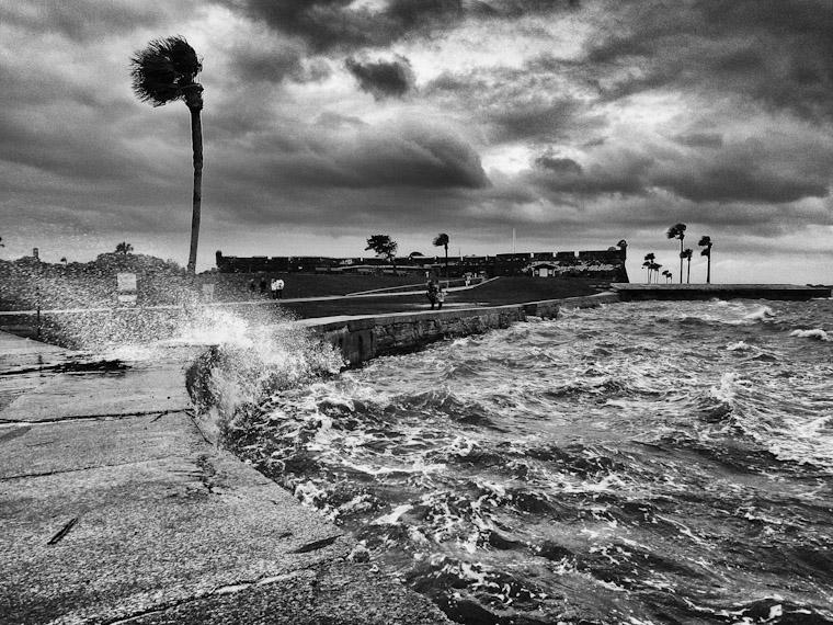 Castillo de San Marcos Fort Wave windy splashing
