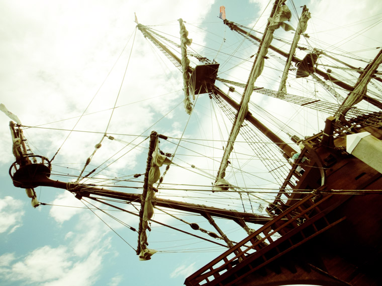 Spanish Galleon Masts in Saint Augustine Florida