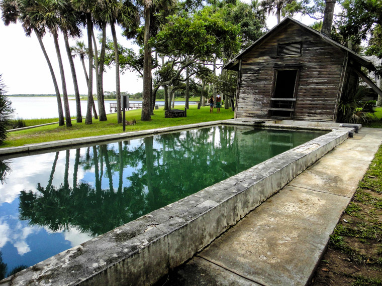Florida's first Artesian fed swimming pool at princess place