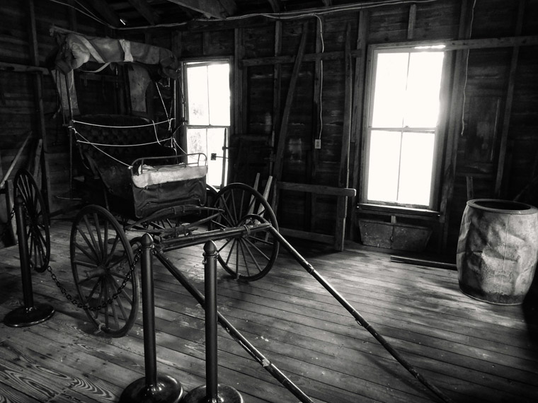 Old carriage at Princess Place Plantation