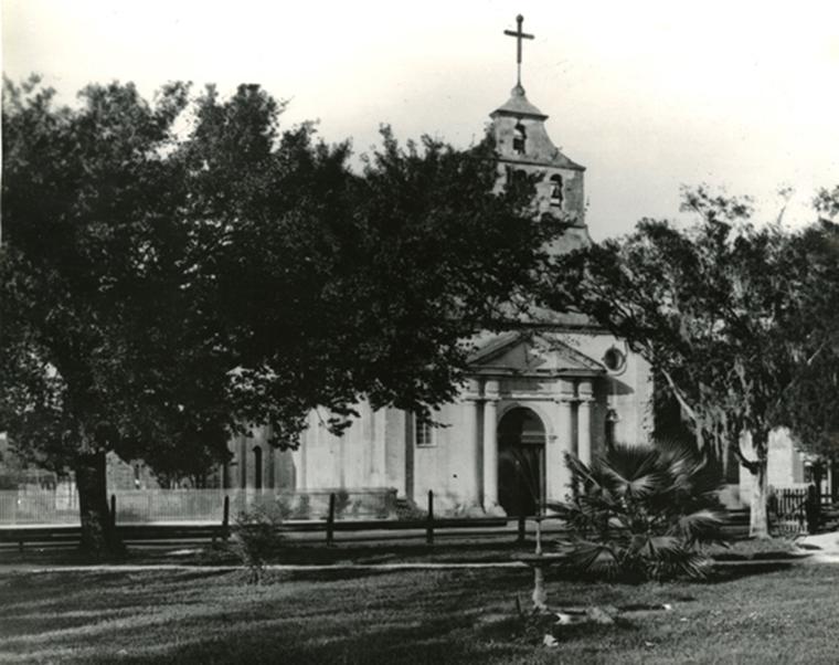 Old Spanish catholic church of oldest parish cathedral basilica