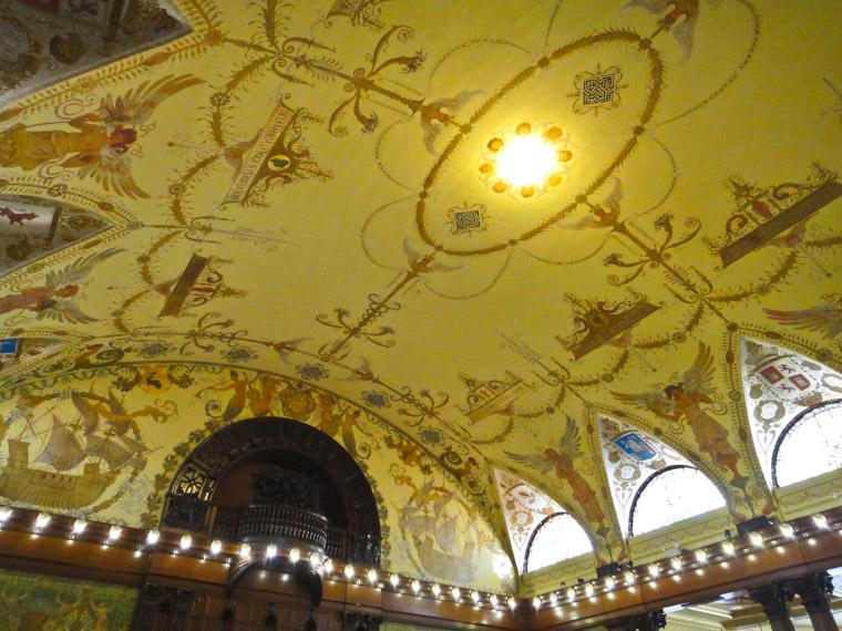 Flagler College Hotel Ponce de Leon Dining Hall Ceiling