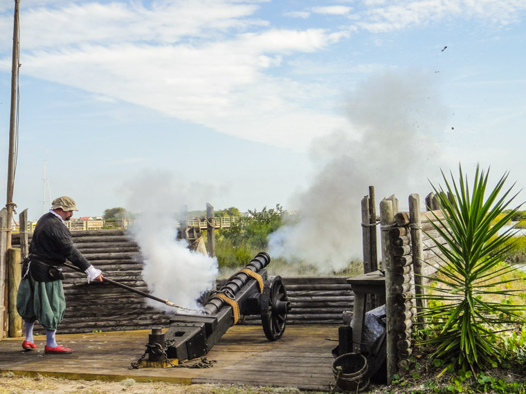 Picture of cannon fire at Fountain of Youth