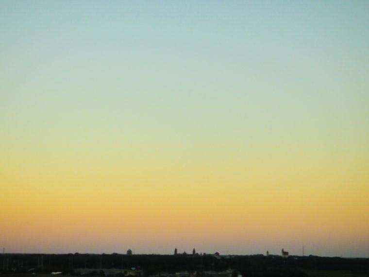Downtown sunset skyline